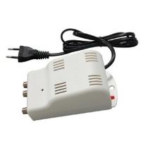 Amplificatore TV autoalimentato 1xING.(VHF 30dB reg.+ UHF 22dB reg.) 2 OUT