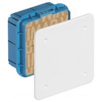 Scatola di derivazione Vimar da incasso completa di coperchio e viti Dimensioni 92x92x50 mm V70001