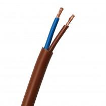 Cavo FS18OR18 Antifiamma 2x1 MMQ Colore marrone  Matassa 100 Mt
