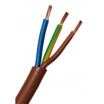 Cavo FS18OR18 Antifiamma 3x1 MMQ Colore marrone  Matassa 100 Mt