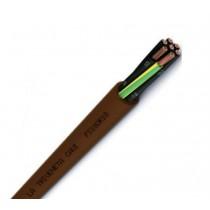 Cavo FS18OR18 Antifiamma 7x1 MMQ Colore marrone Matassa 100 Mt