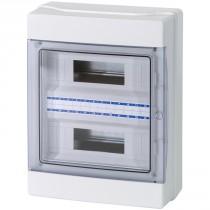 Centralino da Parete 24 Moduli Porta Trasparente IP65 Master M04924-T