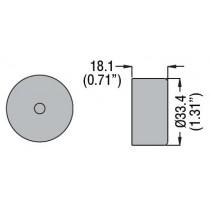 Dimensioni Cappuccio trasparente per pulsante Rasato Lovato 8LM2TAU137