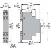 Dimensioni TEMP.LUCE SCALE 0,5-20MIN 22OV TMLS