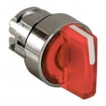 Testa Selettore Illuminabile Rosso tre posizioni LED Schneider ZB4BK1343
