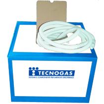 Tubo corrugato con innesti di diametro 16/18 mm Tecnogas 52018