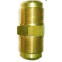 Raccordo diritto per Tubi in rame 1/4x1/4  in Ottone TECNOGAS  11330