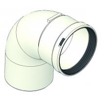 Curva MF 90° in P.P. diametro 80  con guarnizione TECNOGAS 51272
