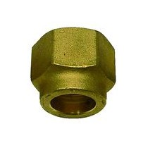 Bocchettone per Raccordo 1/4 per foro 6,35 con filetto rinfozato per Gas R410A TECNOGAS 11350