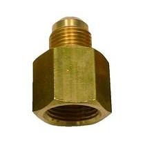 Raccordo diritto MF M 3/8x F 1/2 in ottone per tubi in rame TECNOGAS 11352