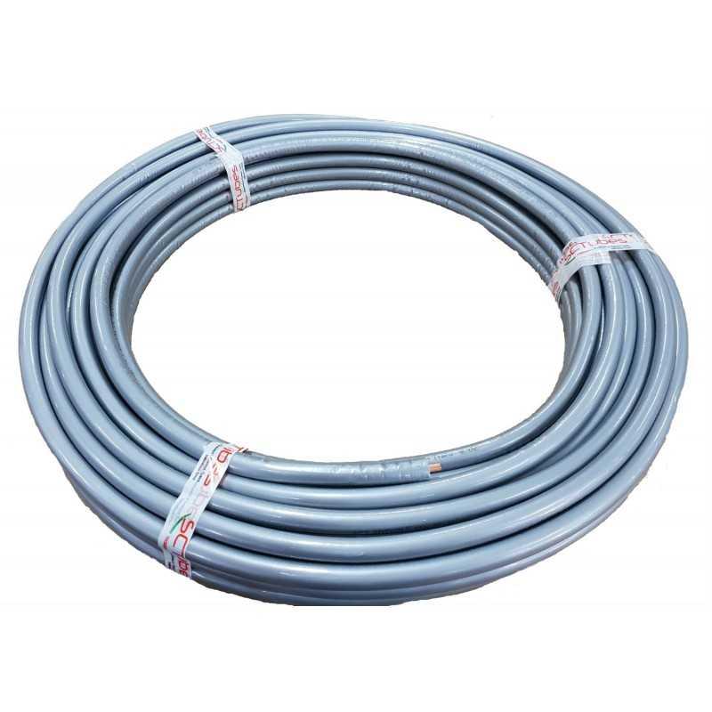 Tubo in rame per climatizzatori 14 spessore 0,8 Non infiammabile Guaina Grigia