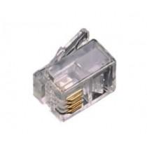 Connettore Plug Rj11 con contatti dorati 6/4 Fanton 22290