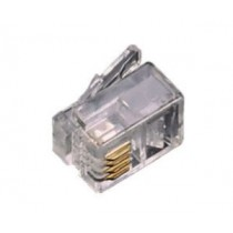 Connettore Plug Rj12 con contatti dorati 6/6 Fanton 22300