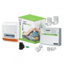 Kit antifurto con centrale Protec4 con combinatore GSM Hiltron KPROTEC4GSM