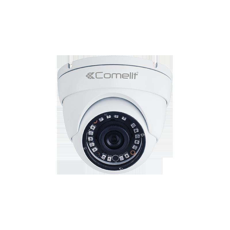Telecamera per Esterno Minidome AHD ad infrarossi 5Mp con ottica da 3,6mm IP66 Comelit AHCAM624A