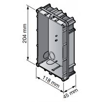 Dimensioni scatola Urmet a incasso per 2 modulo 1145/52