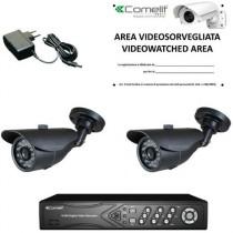 Videoregistratore digitale HD Con Due Telecamere in Kit con Hard Disk da 1TB Comelit AHKIT040C