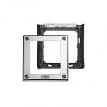 Telaio porta moduli con cornice per un modulo per pulsantiera Sinthesi Steel Urmet 1158/61