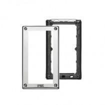 Telaio porta moduli con cornice per due moduli per pulsantiera Sinthesi Steel Urmet 1158/62