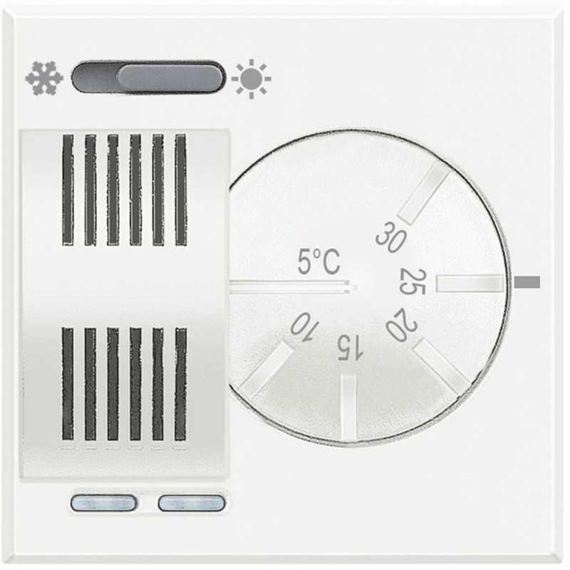 Termostato Ambiente Elettronico Con Commutatore Estate/Inverno Incorporato 230V Serie Civili Bticino Axolute Bianca HD4442