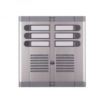 Frontale sei pulsanti su due file con scatola ad incasso predisposto per posto esterno 925/206