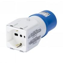 Adattatore da Presa Industriale a Presa Civile 2P+T Blu 16A 230V Gewiss 64212