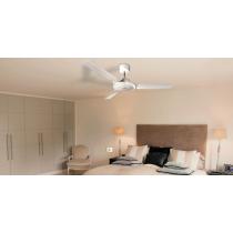 Ventilatore a Soffitto con Pale diametro 1200mm Vortice Nordik Evolution 120 Bianco