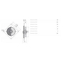 Aspiratore Elicoidale Industriale 220V 250mm con Portata di 1365Mc/h Vortice A-E252M
