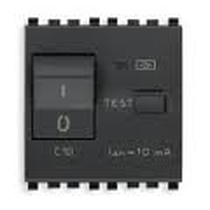 Interruttore Vimar Eikon MTDiff.1P+N C10 10mA grigio