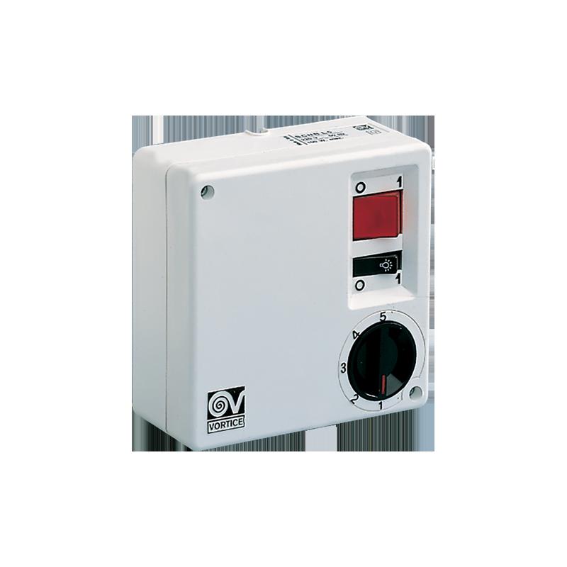 Regolatore di Velocità per Ventilatore a soffitto con Comando Punto Luce Vortice SCRR5L