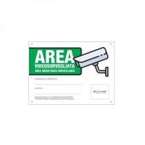 Cartello Area Videosorvegliata Italiano/Inglese Comelit 43500B