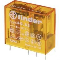 Mini relè per circuito stampato ed a innesto bobina 12V AC 2 contatti Finder 40528012