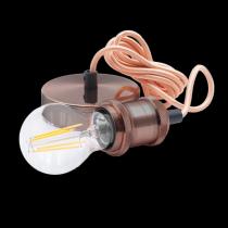 Portalampada a Sospensione Rame Anticato con Attacco Lampada E27 Century Fusion 150 FSRGV-150
