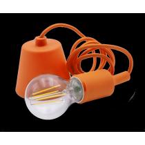 Portalampada a Sospensione Arancio con Attacco Lampada E27 Century Fantasy FTAR-150