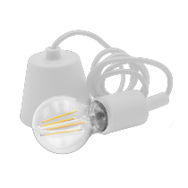Portalampada a Sospensione Bianco con Attacco Lampada E27 Century Fantasy FTBI-150