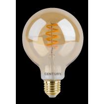 Lampada a Led 4W 2700°K Luce Calda Vintage Century Globo INVDG95-042727