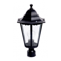 Lanterna da Giardino da Palo IP33 E27 Antracite Poliplast 400414N