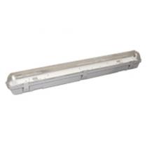 Plafoniera Stagna per Tubi a Led da 60cm IP65 Poliplast 400755-18LED