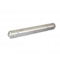 Plafoniera Stagna per 2 Tubi a Led da 60cm IP65 Poliplast 400755-18-2LED