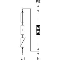 Scaricatore di sovratensione di tipo 1+2 Obo 5094457