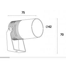 Dimensioni Proiettore orientabile da esterno 7 W 3000 K Luce calda Colibri Playled AL1040C