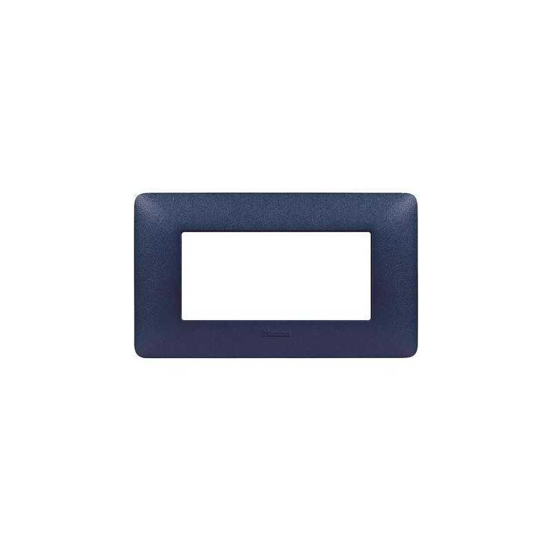 Placca Bticino Matix 4 moduli Blu Mercurio AM4804TBM
