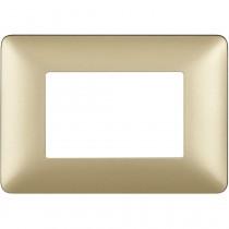 Placca Bticino Matix 3 moduli Gold AM4803MGL