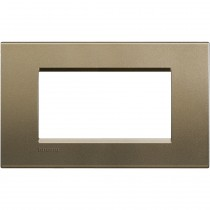 Placca 4 posti quadra square LivingLight Bticino LNA4804SQ
