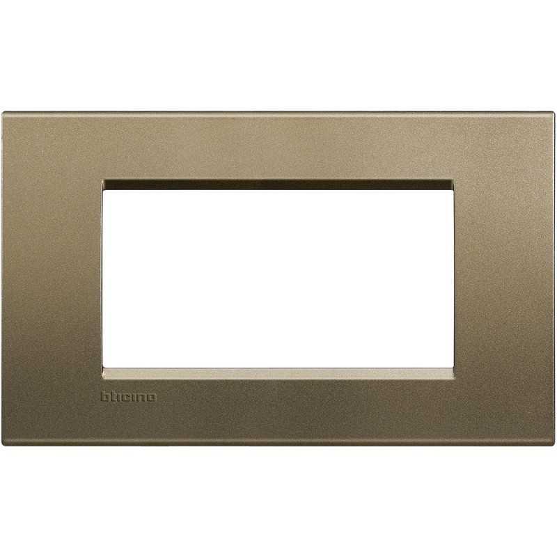 Placca 4 posti quadra square LivingLight Bticino LNA4804SQ