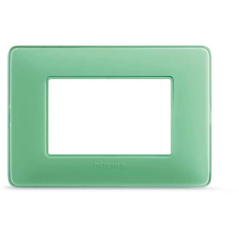 Placca Bticino Matix 3 moduli Tè Verde AM4803CVC
