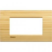 Placca 4 posti quadra bamboo LivingLight Bticino LNA4804LBA