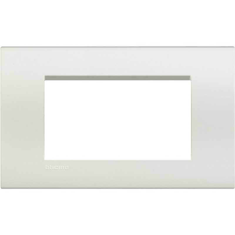 Placca 4 posti quadra bianca LivingLight Bticino LNA4804BI