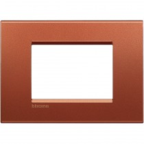 Placca 3 posti quadra brick LivingLight Bticino LNA4803RK