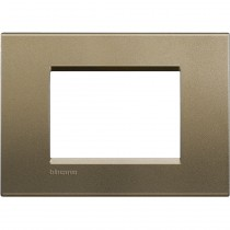 Placca 3 posti quadra square LivingLight Bticino LNA4803SQ